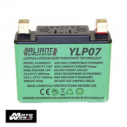 Aliant 322000023 Lithium YLP07 12V 7 AH Motorcycle Battery