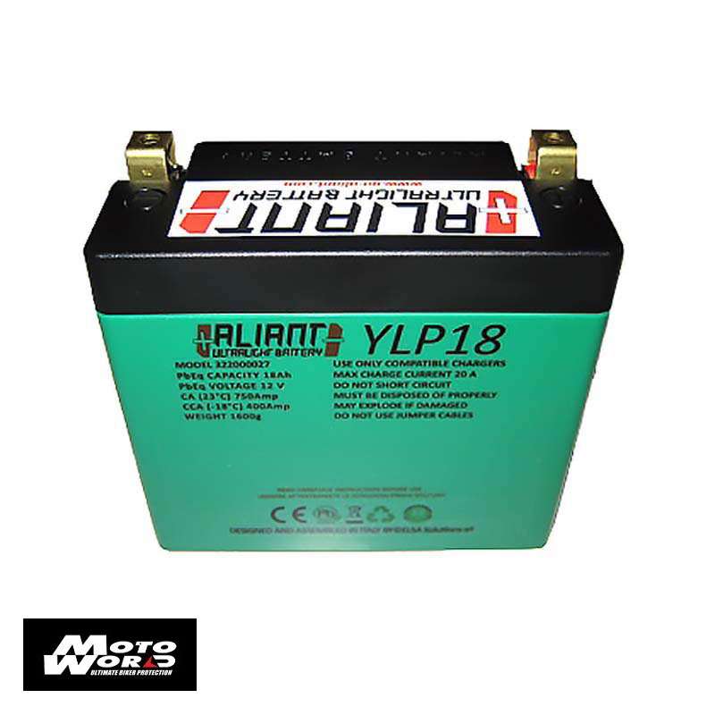 Aliant 322000027 Lithium YLP18 12V 18AH Motorcycle Battery