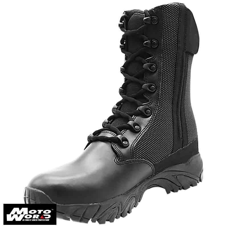 """Altai MFT100-Z 8"""" Waterproof Side Zip Black Tactical Boots"""