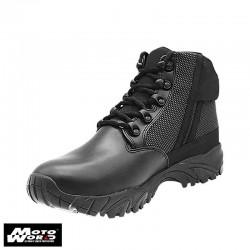 """Altai MFT100-ZS 6"""" Waterproof Side Zip Black Uniform Boots"""