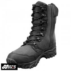 """Altai MFT200-Z 8"""" Waterproof Side Zip Black Tactical Boots"""