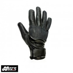 Helstons Speed Leather Cotton Black-Denim Gloves
