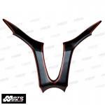 "HMW Y-B74-HY002-C01 Carbon Fiber Leg Shield ""Y"" Shape Cover for Yamaha X-MAX"