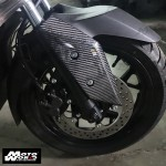 HMW Y-B74-HY009-C01 Carbon Fiber Front Fender Side Trim for Yamaha X-MAX