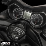 HMW Y-XM3-HY018-C01 Carbon Fiber Handlebar Upper Central Cover for Yamaha X-MAX