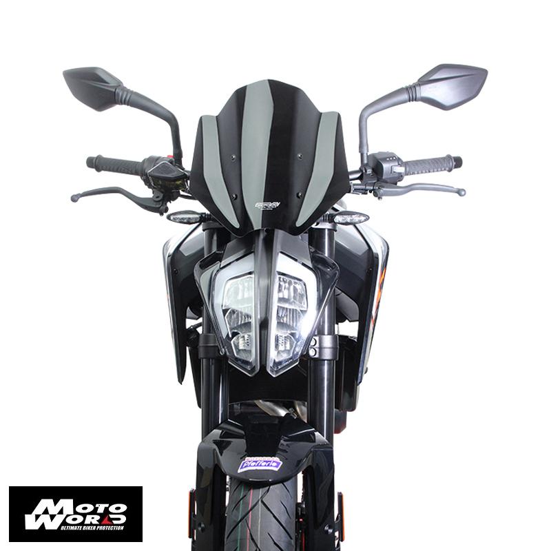 "MRA ""NRM"" Black Racing Windscreen for KTM Duke 790 18"