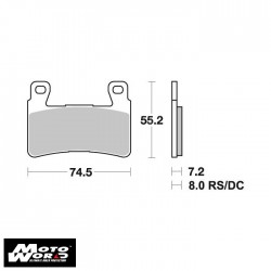 SBS 734SP Brake Pad