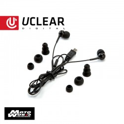 U Clear Earbuds for Helmet Bluetooth Systems