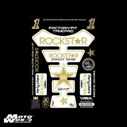 Motografix RKSTR03W Rockstar White/Gold Tankpad