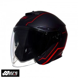 Trax TG263 G2 Matt Black-Red Open Face Motorcycle Helmet