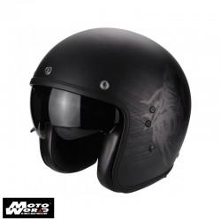 Scorpion EXO8101010 Belfast Sting Matt Black Motorcycle Helmet