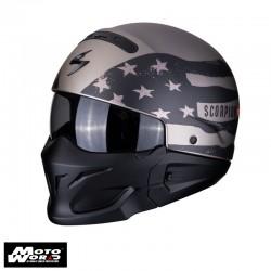 Scorpion EXO-Combat Rookie Titanium-Gray Jet Motorcycle Helmet