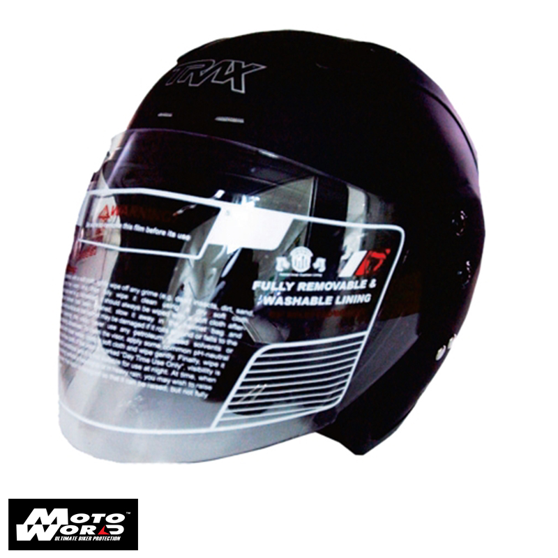 Trax TR06RR Open Face Motorcycle Helmet