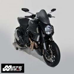 Ermax 060747023 Satin Black Sport Screen for Ducati Diavel 11-13