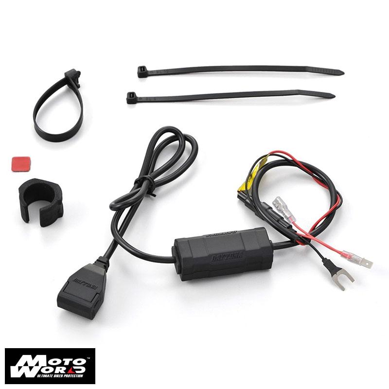 Daytona 97040 Motorcycle Power Supply USB Port ACC 5V-21A