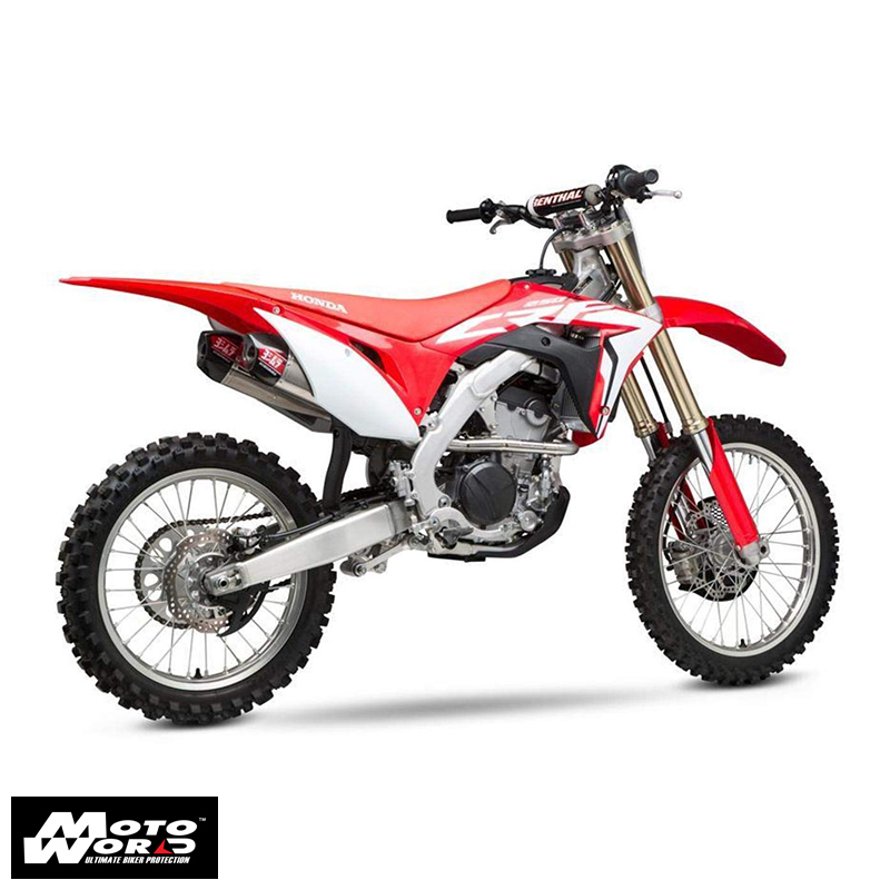 Yoshimura 22843AR520 Signature RS-9T FS SS-SS-CF Dual for Honda CRF250R 18-19