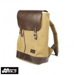 Helstons Leather Backpack-Beige/Brown