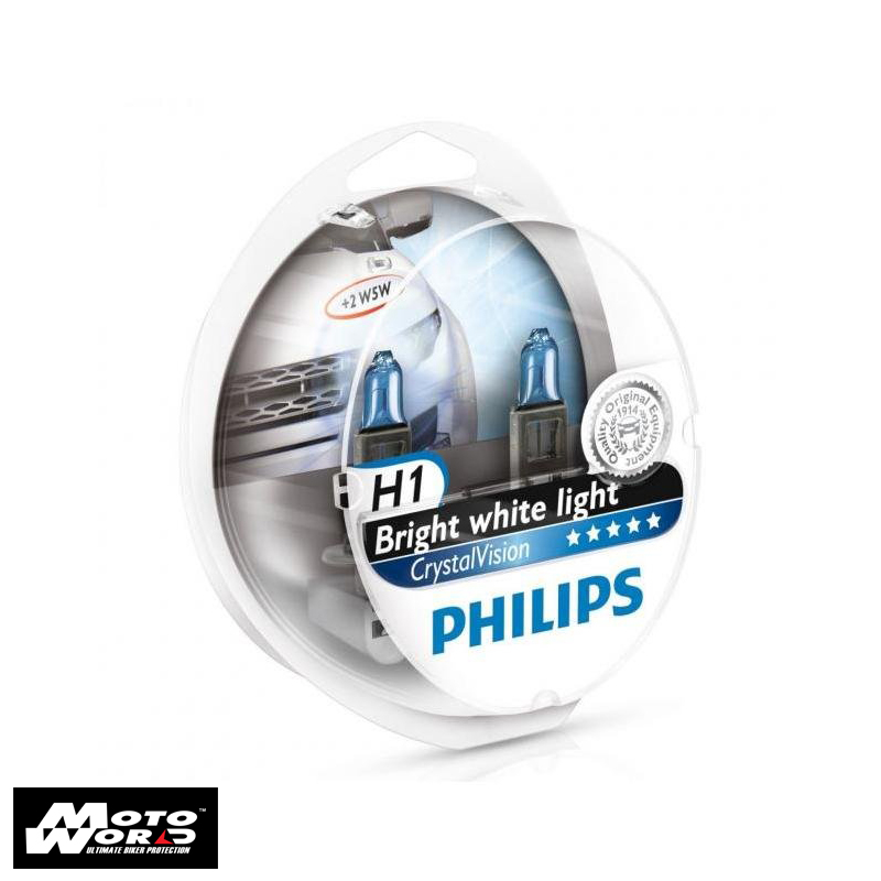 Philips 12258CV H1 Crystal Vision Headlight Bulb