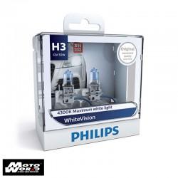 Philips 12336WHV H3 White Vision Headlight Bulb