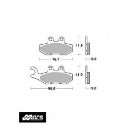 SBS 177CT Brake Pads-Front/Back