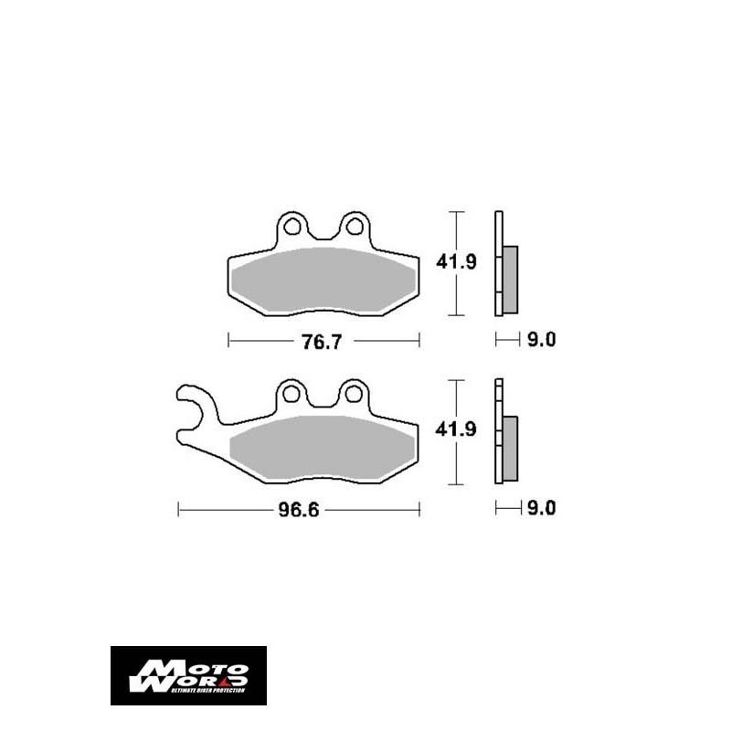 SBS 177CT Brake Pads-Front/Back