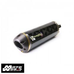 TBR 0051990407V M2 Carbon Fiber Slip-On Exhaust for Kawasaki ZX10R 2008