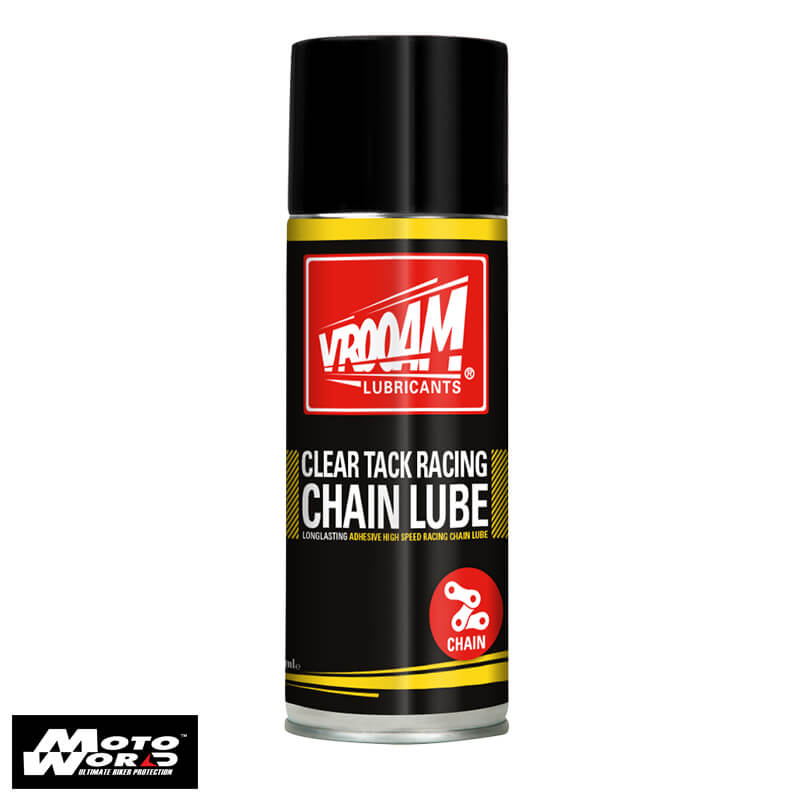 Vrooam 63908 Clear Tack Racing Chain Lube