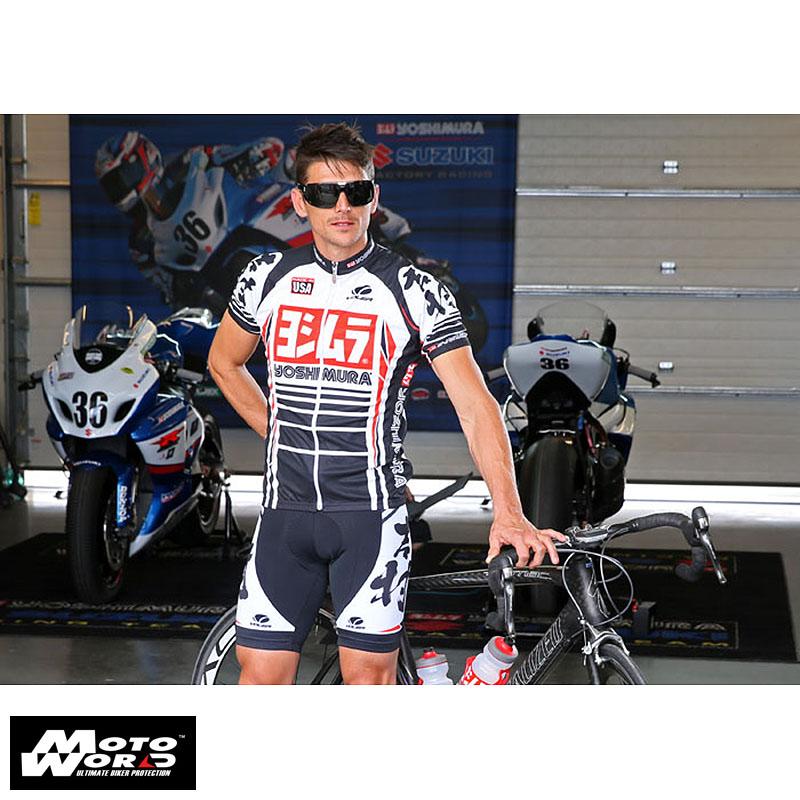Yoshimura USA 192029M Logo Cycling Medium Bib Short With Pad