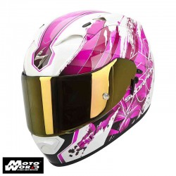 Scorpion EXO-1200 AIR Lilium White-Pink Motorcycle Helmet