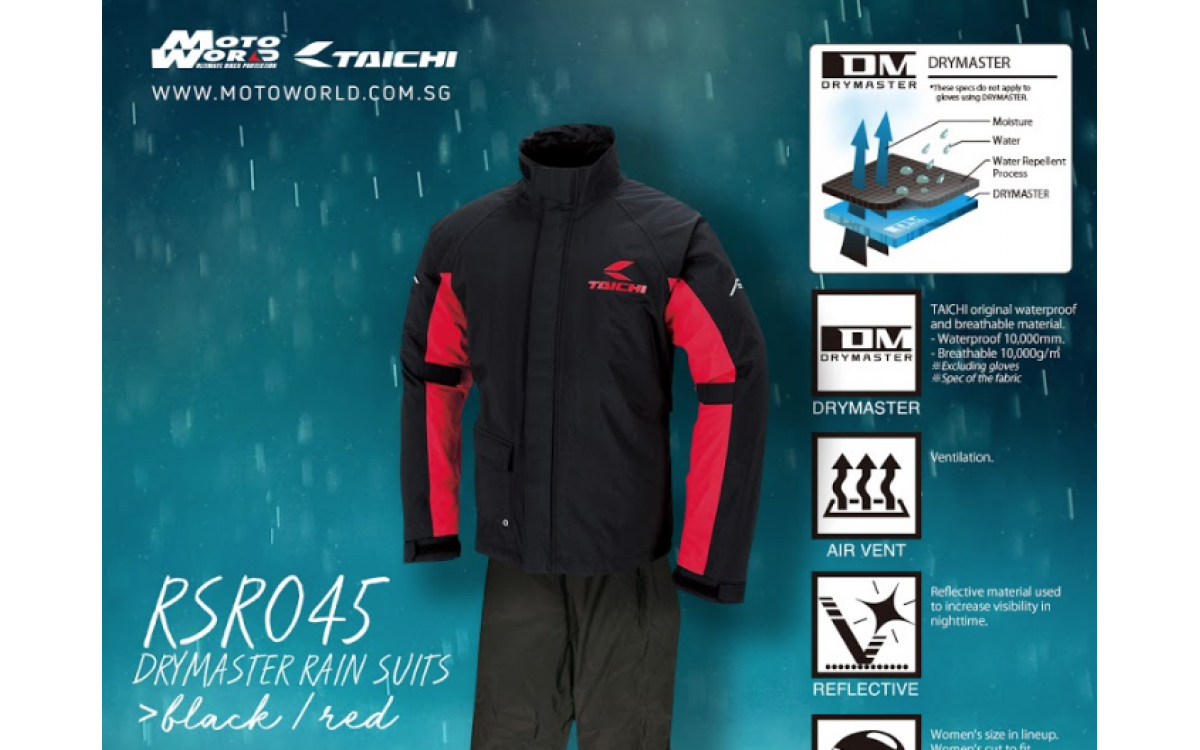 RS Taichi RSR045 Drymaster Rain Suit review