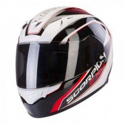 Scorpion EXO-2000 EVO AIR Performer White/Black/Red Full Face Motorcycle Helmet