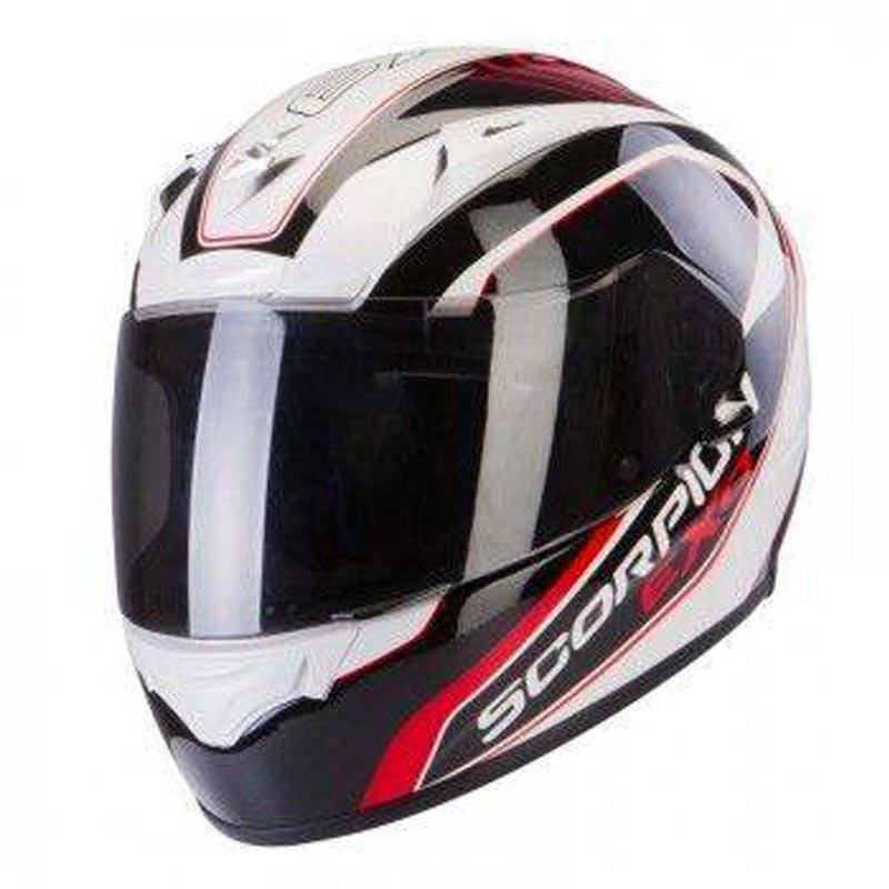 Scorpion EXO-2000 EVO AIR Performer White/Black/Red Full Face Motorcycle Helmet