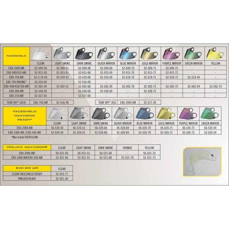 Scorpion Pinlock MaxVision visor for EXO-2000/1000/500 AIR Dark Smoke