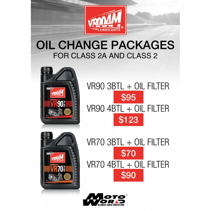 Vrooam Oil Change Package for  Class 2A and Class 2