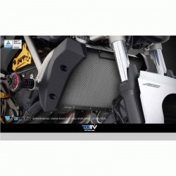 DMV DIRPCYA14K DI-RPC-YA-14-K Radiator Protective Cover - Black For Yamaha
