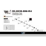 DMV DIHCBBMR4G F800GS 07-13 Logo Handlebar Caps