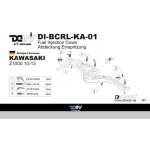 DMV DBCRLKA01 Z1000 10-13 Fuel Injection Cover