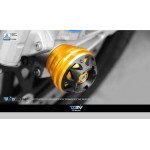 DMV DFAS3DAP01GD RSV4 1000 09-13 3D Front Axle Slider - Gold
