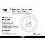 DMV Diavel 1198 10-14 Gas Tank Cap Pad
