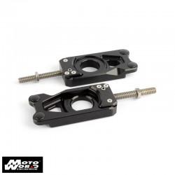 Gilles Tooling TCARJ15B TCA Black Chain Adjuster for Yamaha YZFR6 RJ11 06-07