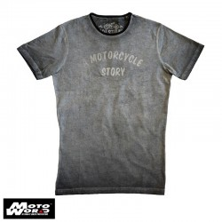 Helstons Story Cotton T-Shirt- Grey