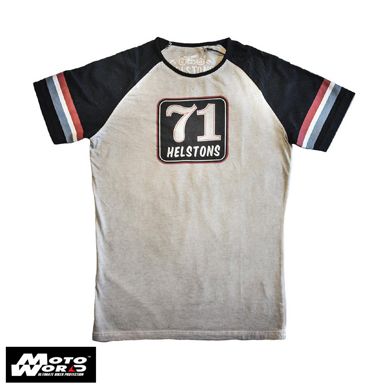 Helstons 71 Cotton T-Shirt- Grey/Black