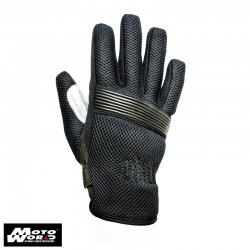 Helstons Benny Mesh Fabrics Gloves- Black/Grey