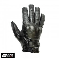 Helstons Mizo Leather Gloves- Black