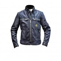 Helstons Genesis Girl Mesh Cotton Jacket- Blue