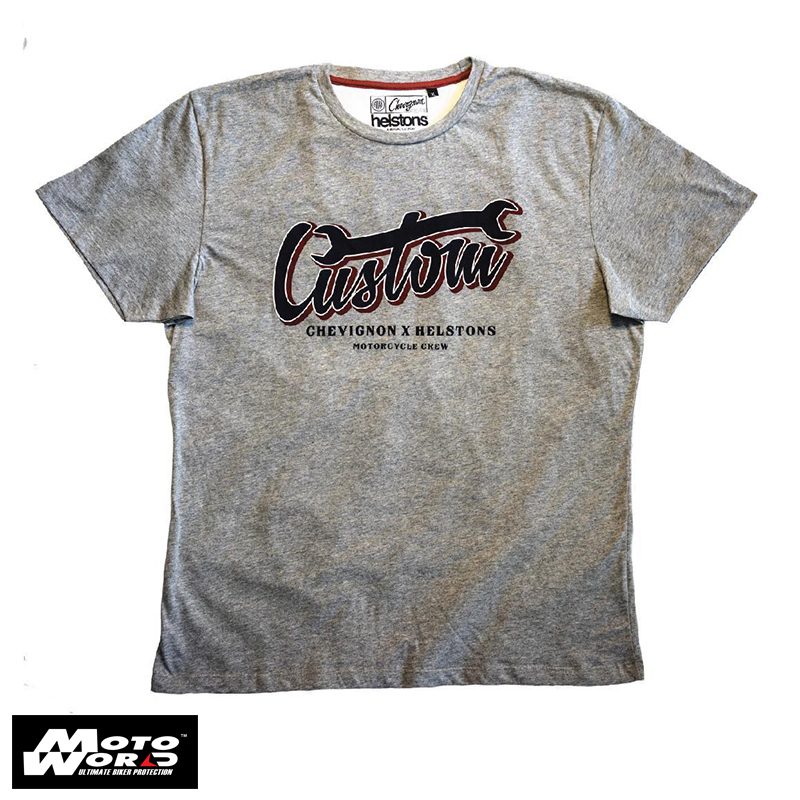 Helstons Custom Cotton T-Shirt- Grey