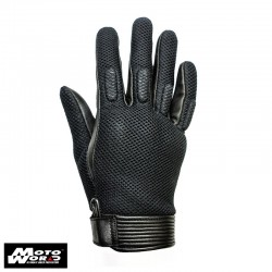 Helstons Side Mesh Leather Gloves- Black