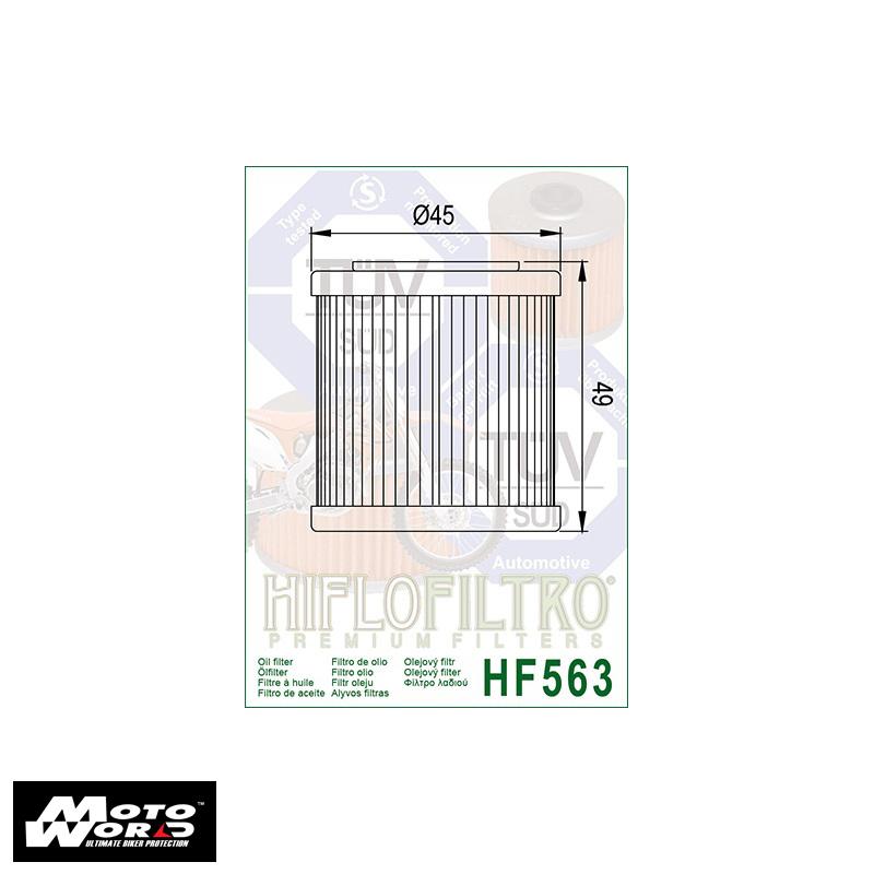 HifloFiltro HF563 Filtro para Moto