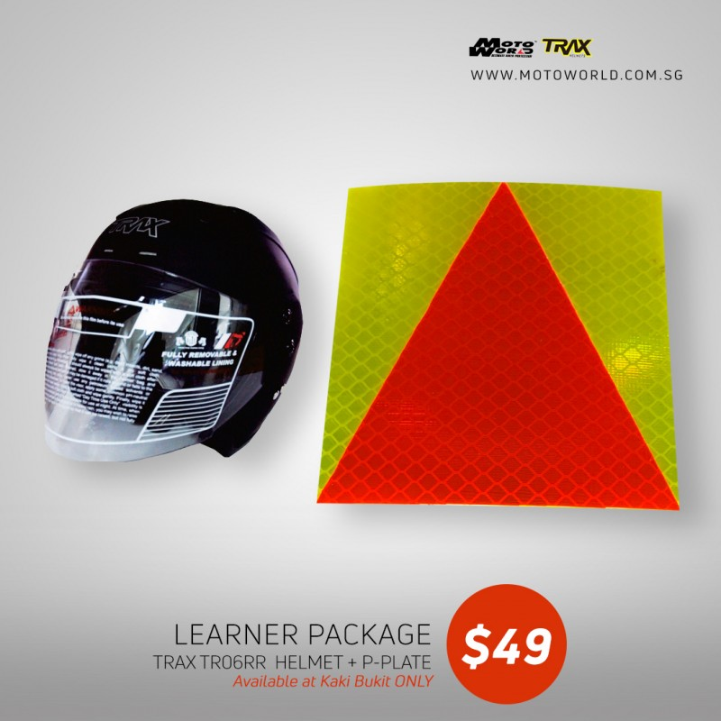 Trax TR06ZRR Open Face Helmet - PSB Approved + PPlate 3M Sticker - Only for New Riders