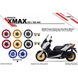 MOS YBC3FG1003 Forged Aluminum Alloy Rims Wheel for Yamaha T-Max 10 17
